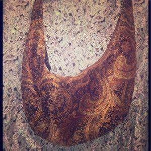 Chinese Laundry's Huge Gilded Paisley Hobo Bag